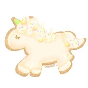 ユニコーンクッキー無料素材ホワイトクリーム