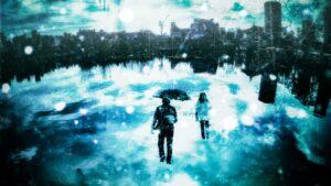 雨に濡れる悲しい写真